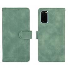 OEMSkin-touch Plånboksfodral Galaxy S20 FE - Grön