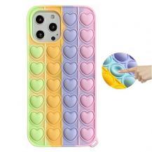 Fidget ToysHjärta Pop it Fidget Multicolor Skal till iPhone 11
