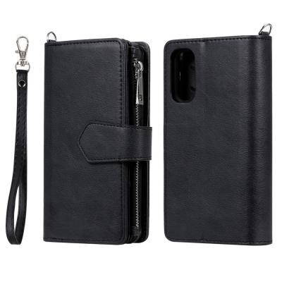 Zipper Magnet Plånboksfodral till Galaxy S20 - Svart