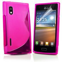 A-One BrandFlexiCase Skal till LG Optimus L5 - E610 - (Rosa)