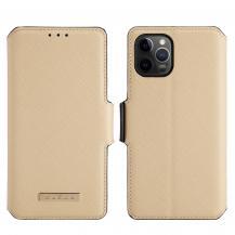 A-One BrandMuxma Saffiano Plånboksfodral till Apple iPhone 12 Pro Max - Beige