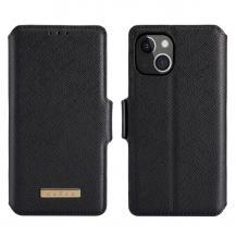 A-One BrandMuxma Saffiano Plånboksfodral till iPhone 13 Mini - Svart