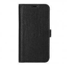 EssentialsEssentials - Leather Detachable Plånboksfodral iPhone 12 & 12 Pro - Svart