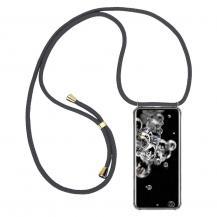 CoveredGear-NecklaceCoveredGear Necklace Case Samsung Galaxy S20 Ultra - Grey Cord