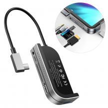 BASEUSBaseus HUB Adapter USB Type C USB 3.0/4K HDMI/TF kort läsare Grå
