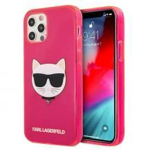 KARL LAGERFELDKarl Lagerfeld Skal iPhone 12 Pro Max Glitter Choupette Fluo - Rosa