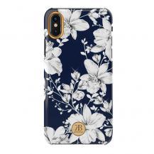 KingxbarKingxbar Blossom skal dekorerad Crystal iPhone XS Max Blå