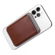 ICARERiCarer Magsafe Läder Magnetic Korthållare iPhone 12/13 (Pro/Max/Mini) - Brun