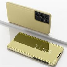 A-One BrandMirror Window fodral till Samsung Galaxy S21 Plus - Guld