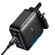 UgreenUgreen UK Fast Väggladdare 3x USB Type-C 65W - Svart