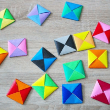 A-One Brand20-Pack Origami Papper - Ddakji - Squid Game - Blandade Färger