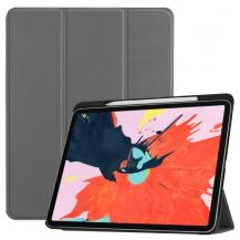 A-One BrandTri-Fold Tablet Fodral till iPad Pro 12.9 (2018) - Grå