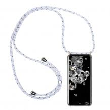 CoveredGear-NecklaceCoveredGear Necklace Case Samsung Galaxy S20 Ultra - White Stripes Cord