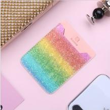 FlovemeFloveme kreditkortshållare för smartphones - Glittery Rainbow
