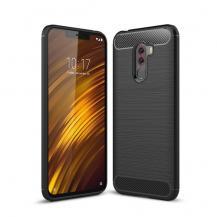 A-One BrandCarbon Brushed Mobilskal till Xiaomi Pocophone F1 - Svart