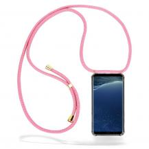 CoveredGear-NecklaceCoveredGear Necklace Case Samsung Galaxy S8 Plus - Pink Cord