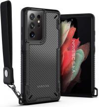 VERUSVRS DESIGN - Crystal Mixx Pro Skal Samsung Galaxy S21 Ultra - Svart