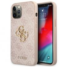 GuessGuess Skal iPhone 12 Pro Max Big Metal Logo - Rosa
