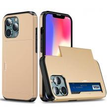 A-One BrandHybrid Skal med Kortplats till iPhone 13 Pro Max - Guld