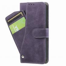 OEMRotary Card Holder Plånboksfodral iPhone 12 Mini - Lila
