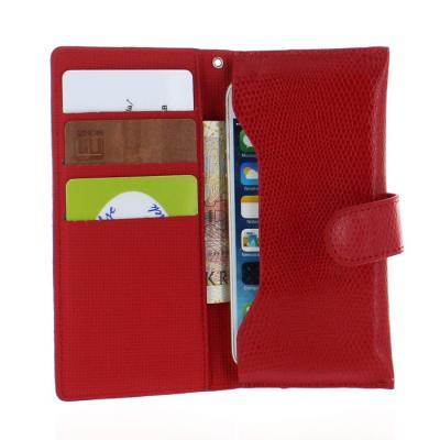 Universal mobilfodral med handrem (Röd)