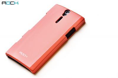 Rock Colorful Skal till Sony Xperia S (ORANGE) + HD Skärmskydd