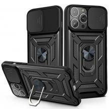 A-One BrandCamshield Mobilskal med Ringhållare iPhone 13 Pro Max - Svart