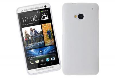Glittery FlexiSkal till HTC One (M7) (Vit)