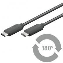 QnectQnect USB 3.1 Superspeed+ C plug to USB 3.1 type C, 0,5m