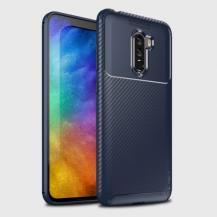 iPakyIPAKY Carbon Fiber Mobilskal till Xiaomi Pocophone F1 - Blå