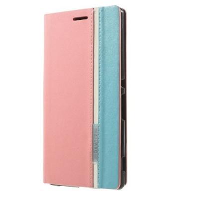 Plånboksfodral till Sony Xperia Z3+ (Rosa)