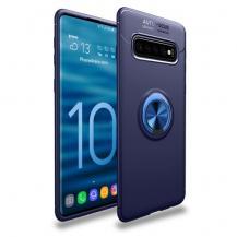 A-One BrandMagnetiskt Skal med Ring för Samsung Galaxy S10 - Blå