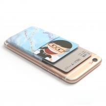 OEMKreditkortshållare för smartphones - Marmor Blå
