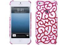 A-One BrandMönstrat Baksideskal till Apple iPhone 5/5S/SE (Rosa)