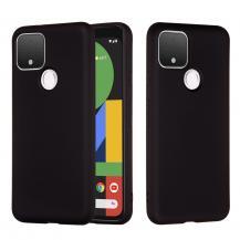 OEMLiquid Silicone Mobilskal Google Pixel 5 - Svart