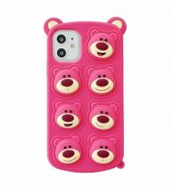 Fidget ToysPink Bear Pop it Fidget Skal till iPhone 11