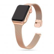 Tech-ProtectThin Milanese Band Apple Watch 4 / 5 / 6 / 7 / Se (38 / 40 / 41 mm) - Blush Guld