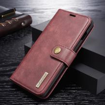 DG.MINGDG.MING Plånboksfodral 2-i-1 Split för Samsung Galaxy S10 - Röd