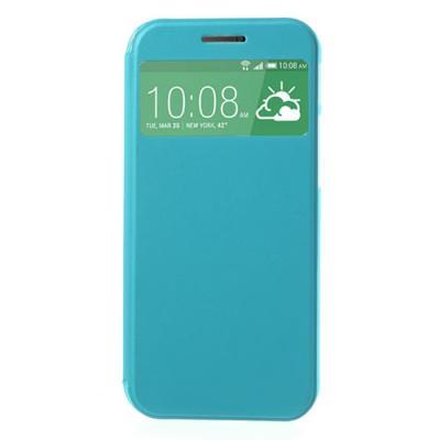 Mobilfodral med fönster till HTC One 2 M8 (2014) - (Blå)