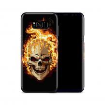 Skal till Samsung Galaxy S8 Plus - Skull on fire