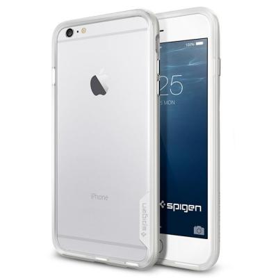 SPIGEN Neo Hybrid EX Bumper Skal till Apple iPhone 6(S) Plus (Silver)
