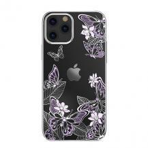 KingxbarKingxbar Butterfly Series Shiny iPhone 12/12 Pro Skal lila