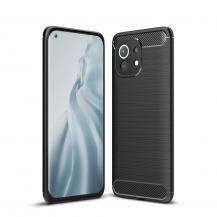 Carbon Fiber Mobilskal Til Xiaomi Mi 11 - Svart