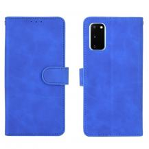 OEMSkin-touch Plånboksfodral Galaxy S20 FE - Blå