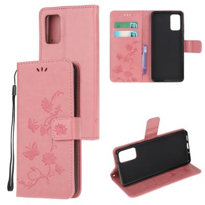 Butterfly Plånboksfodral till Samsung Galaxy S20 Plus - Rosa