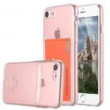 A-One BrandFlexicase Skal med Kortplats till Apple iPhone 6/7/8/SE 2020 - Transparent