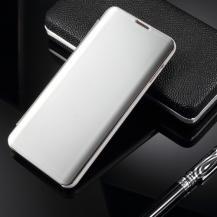 A-One BrandWindow Mirror Fodral till Samsung Galaxy S10 Plus - Silver