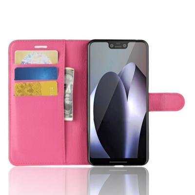 Litchi Plånboksfodral för Google Pixel 3 XL - Rosa