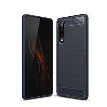 A-One BrandCarbon Brushed Mobilskal till Huawei P30 - Blå