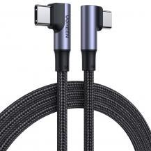 UGrönUGreen elbow USB Type C - USB Type C Kabel 100 W 5 A 1 m Svart